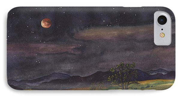 Rocky Mountain iPhone 7 Case - Blood Moon Over Boulder by Anne Gifford