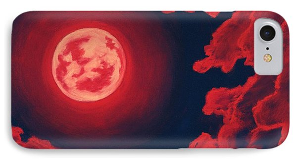 Blood Moon - Sky And Clouds Collection IPhone Case by Anastasiya Malakhova