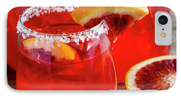 IPhone Case featuring the photograph Blood Orange Margaritas On The Rocks by Teri Virbickis