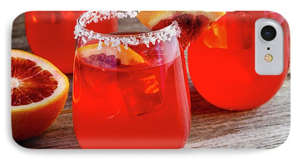 IPhone Case featuring the photograph Blood Orange Margaritas by Teri Virbickis