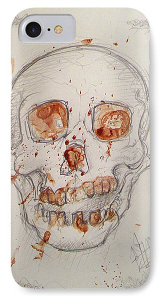 Bloodskull IPhone Case by Sam Hane