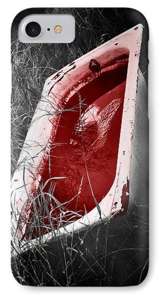 Bloody Bathtub Phone Case by Wim Lanclus