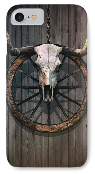 Bloody Bull Skull IPhone Case by Carlos Caetano