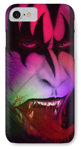 Bloody Demon IPhone Case by Kevin Caudill