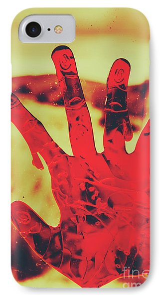 Bloody Halloween Palm Print IPhone Case