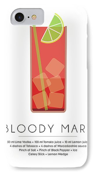 Bloody Mary Classic Cocktail - Minimalist Print IPhone Case