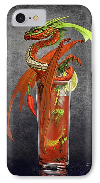Bloody Mary iPhone 7 Case - Bloody Mary Dragon by Stanley Morrison