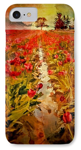 IPhone Case featuring the digital art Bloomin Tulips by Dale Stillman