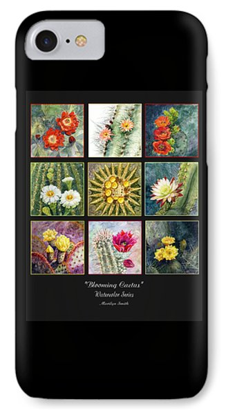 IPhone Case featuring the painting Blooming Cactus by Marilyn Smith