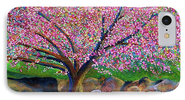 Blooming Crabapple In Evening Light IPhone Case by Polly Castor