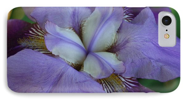 IPhone Case featuring the digital art Blooming Iris by Barbara S Nickerson