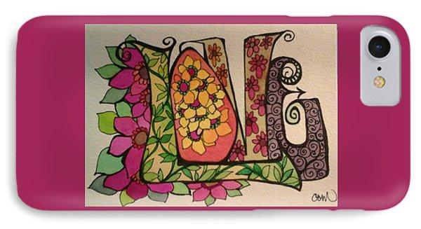 Blooming Love IPhone Case by Claudia Cole Meek