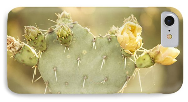 Blooming Prickly Pear Cactus IPhone Case