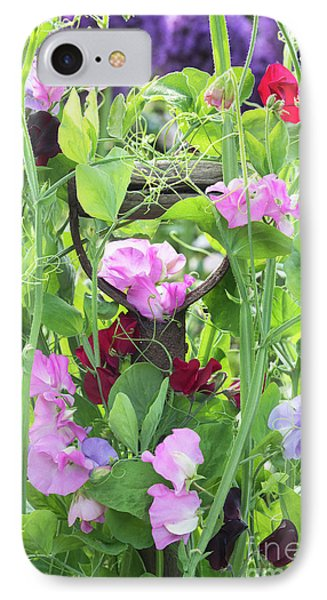 Blooming Sweet Peas IPhone Case