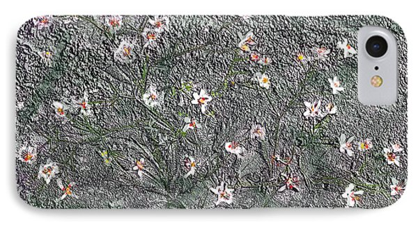 Blooms In Stone IPhone Case by Annlynn Ward