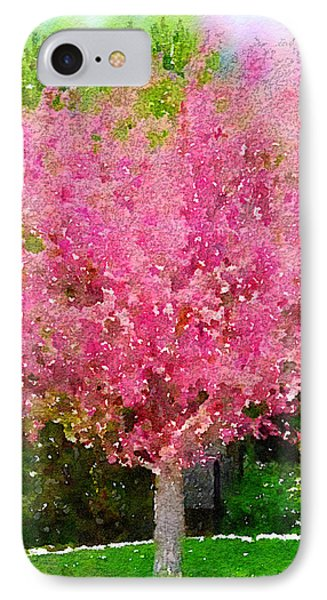 Blossoming Crabapple Tree Phone Case by Donald S Hall