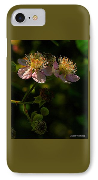 Blossoms 3 IPhone Case by Steve Warnstaff