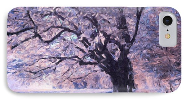 Blossoms In Winter IPhone Case by Georgiana Romanovna