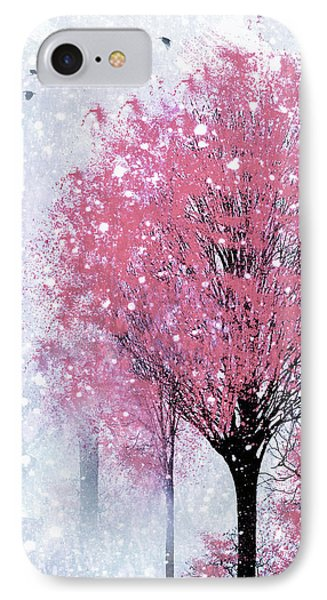 Blossoms In Winter Wall Art IPhone Case
