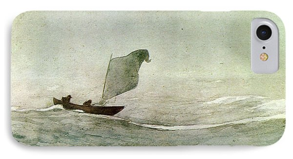 Blowen Away Phone Case by Winslow Homer