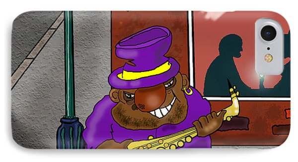 Blowin' On Bourbon Phone Case by Kev Moore