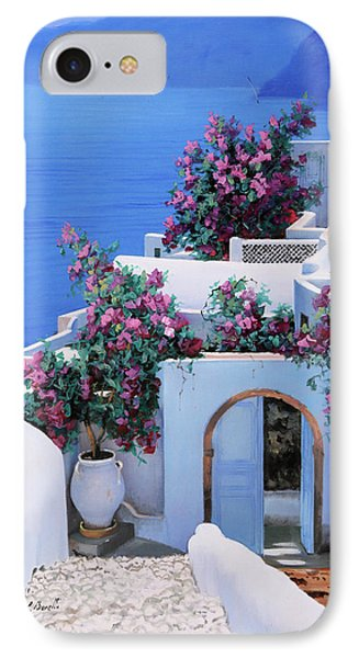 Blu Di Grecia IPhone Case by Guido Borelli
