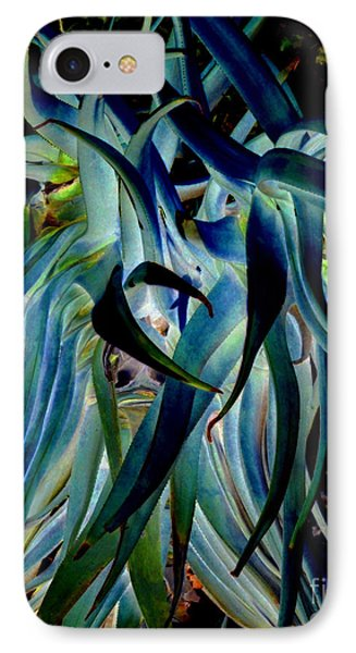 Blue Abstract Art Lorx Phone Case by Rebecca Margraf