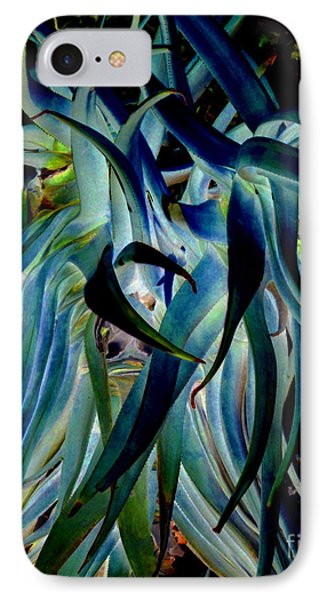 Blue Abstract Art Lorx IPhone Case by Rebecca Margraf