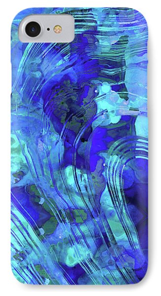 Blue Abstract Art - Reflections - Sharon Cummings Phone Case by Sharon Cummings