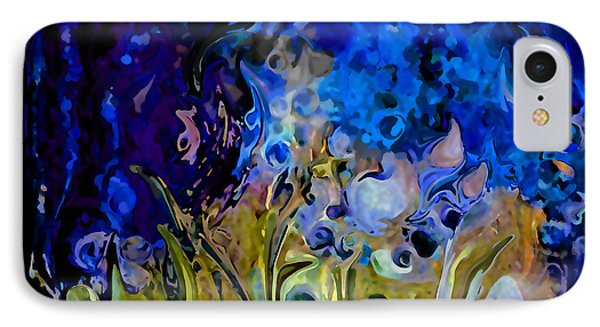Blue Abstract Blue Symphony In Color By Sherri Nicholas Of Palm Springs IPhone Case by Sherri's Of Palm Springs