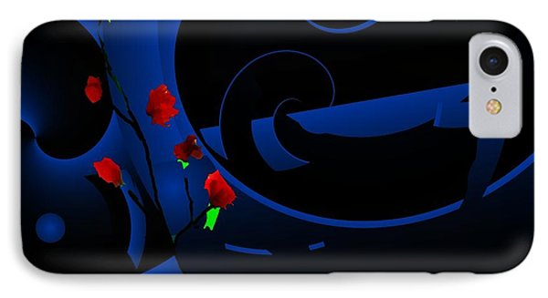 Blue Abstract Phone Case by David Lane