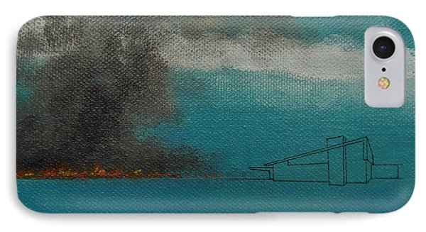 Blue Alexander With Brush Fire IPhone Case