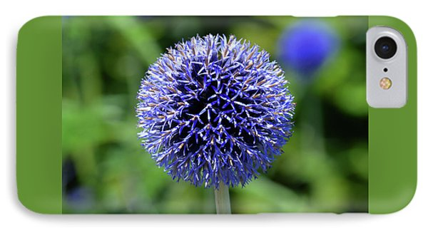 IPhone Case featuring the photograph Blue Allium by Terence Davis