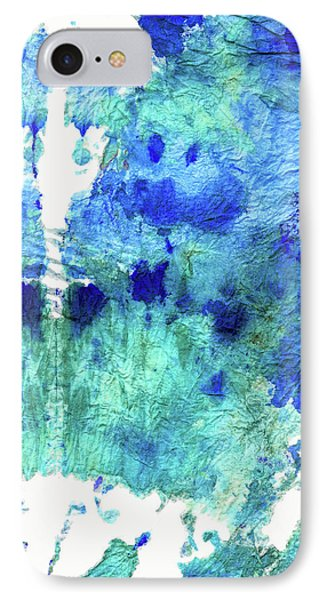 Blue And Aqua Abstract - Wishing Well - Sharon Cummings IPhone Case