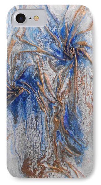 Blue And Gold 1 IPhone Case by Angela Stout