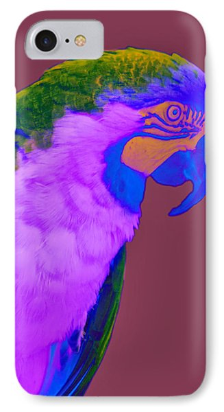 IPhone Case featuring the photograph Blue And Gold Macaw Sabattier by Bill Barber