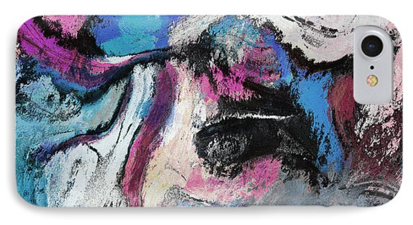 Blue And Pink Abstract Painting IPhone Case by Ayse Deniz