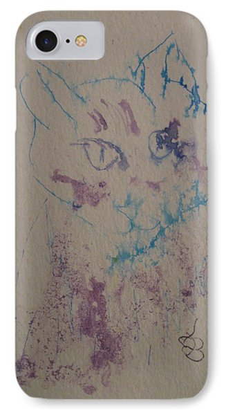 Blue And Purple Cat IPhone Case