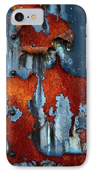 IPhone Case featuring the photograph Blue And Rust by Karol Livote