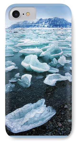 IPhone Case featuring the photograph Blue And Turquoise Ice Jokulsarlon Glacier Lagoon Iceland by Matthias Hauser