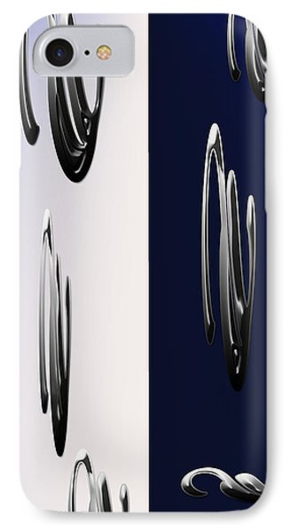 Blue And White Abstract IPhone Case