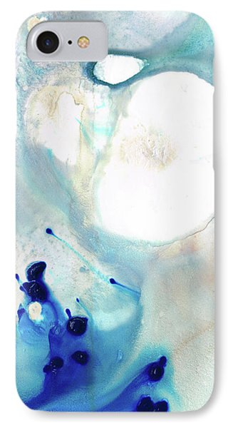 IPhone Case featuring the painting Blue And White Art - A Short Wave - Sharon Cummings by Sharon Cummings