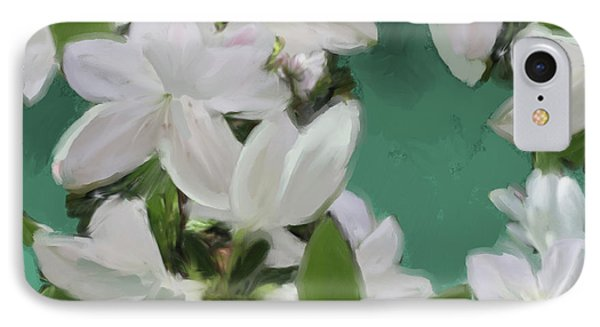 Blue And White Flower Art 2 IPhone Case