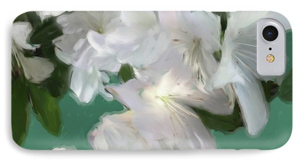 Blue And White Flower Art 3 IPhone Case