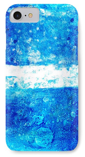 Blue And White Modern Art - Two Pools 2 - Sharon Cummings IPhone Case by Sharon Cummings