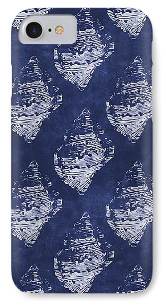 Blue And White Seashells 1- Art By Linda Woods IPhone Case