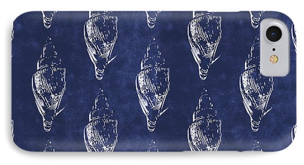 Blue And White Seashells 2- Art By Linda Woods IPhone Case by Linda Woods