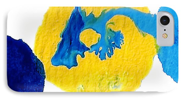 Blue And Yellow Sea Interactions A IPhone Case by Amy Vangsgard