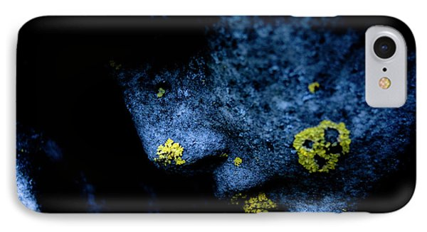 Blue Angel Face Iv IPhone Case by Grebo Gray