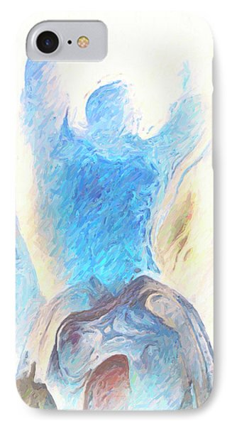 Blue Angel Of Power IPhone Case